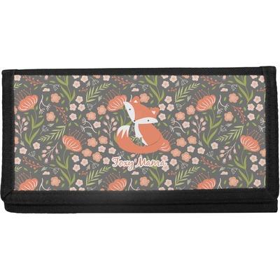 Foxy Mama Canvas Checkbook Cover