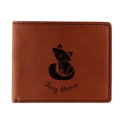 Foxy Mama Leatherette Bifold Wallet - Double Sided