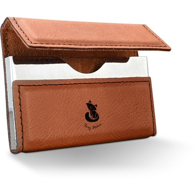 Foxy Mama Leatherette Business Card Holder
