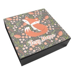 Foxy Mama Leatherette Keepsake Box - 8x8