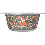 Foxy Mama Stainless Steel Dog Bowl