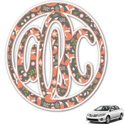 Foxy Mama Monogram Car Decal