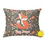 Foxy Mama Outdoor Throw Pillow (Rectangular)