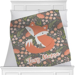 "Foxy Mama Fleece Blanket - Twin / Full - 80""x60"" - Single Sided"