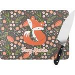 Foxy Mama Rectangular Glass Cutting Board