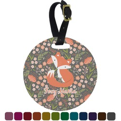 Foxy Mama Round Luggage Tag