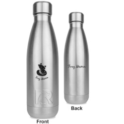 Foxy Mama RTIC Bottle - Silver - Engraved Front & Back