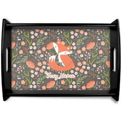 Foxy Mama Black Wooden Tray