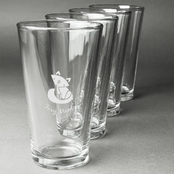Foxy Mama Beer Glasses (Set of 4)