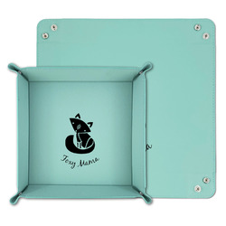 Foxy Mama Teal Faux Leather Valet Tray