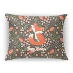 Foxy Mama Rectangular Throw Pillow Case