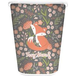 Foxy Mama Waste Basket - Single Sided (White)