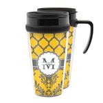 Damask & Moroccan Acrylic Travel Mugs (Personalized)
