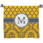 Damask & Moroccan Full Print Bath Towel (Personalized)