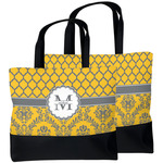 Damask & Moroccan Beach Tote Bag (Personalized)