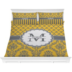 Damask & Moroccan Comforter Set - King (Personalized)