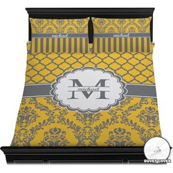 Damask & Moroccan Duvet Cover Set (Personalized)