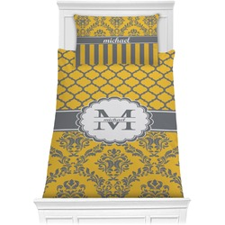 Damask & Moroccan Comforter Set - Twin (Personalized)