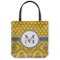 Damask & Moroccan Canvas Tote Bag (Personalized)