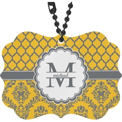Damask & Moroccan Rear View Mirror Charm (Personalized)