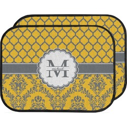 Damask & Moroccan Car Floor Mats (Back Seat) (Personalized)