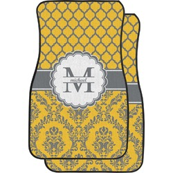 Damask & Moroccan Car Floor Mats (Front Seat) (Personalized)