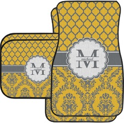 Damask & Moroccan Car Floor Mats (Personalized)