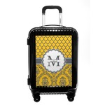Damask & Moroccan Carry On Hard Shell Suitcase (Personalized)