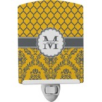 Damask & Moroccan Ceramic Night Light (Personalized)