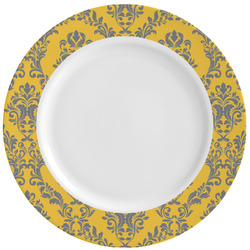 Damask & Moroccan Ceramic Dinner Plates (Set of 4) (Personalized)