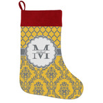 Damask & Moroccan Holiday Stocking w/ Name and Initial