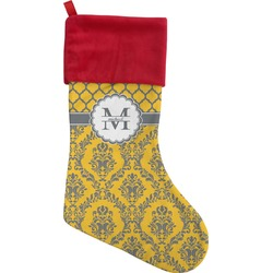Damask & Moroccan Christmas Stocking (Personalized)