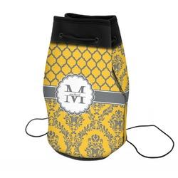 Damask & Moroccan Neoprene Drawstring Backpack (Personalized)