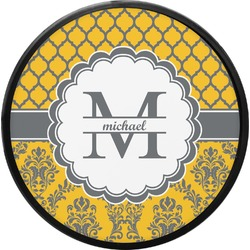 Damask & Moroccan Round Trailer Hitch Cover (Personalized)
