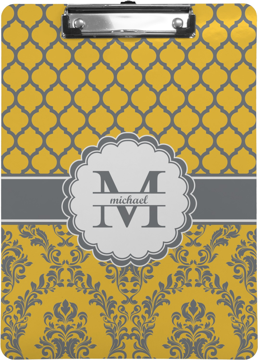 Damask Amp Moroccan Clipboard Letter Size Personalized