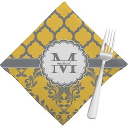 Damask & Moroccan Cloth Napkins (Set of 4) (Personalized)