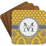 Damask & Moroccan Coaster Set w/ Stand (Personalized)