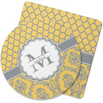 Damask & Moroccan Rubber Backed Coaster (Personalized)