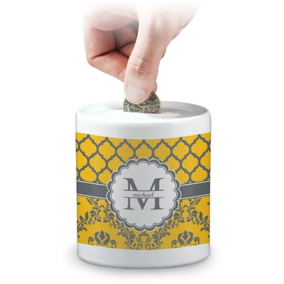 Damask & Moroccan Coin Bank (Personalized)