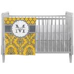 Damask & Moroccan Crib Comforter / Quilt (Personalized)