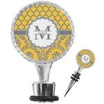 Damask & Moroccan Wine Bottle Stopper (Personalized)
