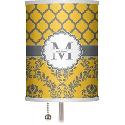 "Damask & Moroccan 7"" Drum Lamp Shade (Personalized)"
