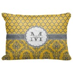 "Damask & Moroccan Decorative Baby Pillowcase - 16""x12"" (Personalized)"