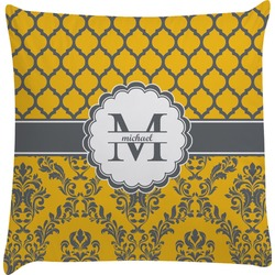 Damask & Moroccan Decorative Pillow Case (Personalized)