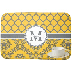 Damask & Moroccan Dish Drying Mat (Personalized)