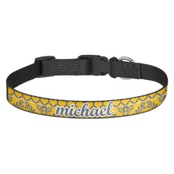 Damask & Moroccan Dog Collar - Medium (Personalized)