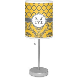 """Damask & Moroccan 7"""" Drum Lamp with Shade (Personalized)"""