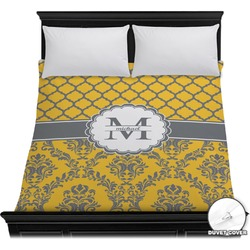 Damask & Moroccan Duvet Cover (Personalized)
