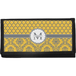 Damask & Moroccan Canvas Checkbook Cover (Personalized)
