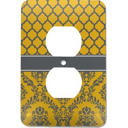 Damask & Moroccan Electric Outlet Plate (Personalized)